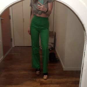 NEW Vintage 70's Green High-Waisted Trousers